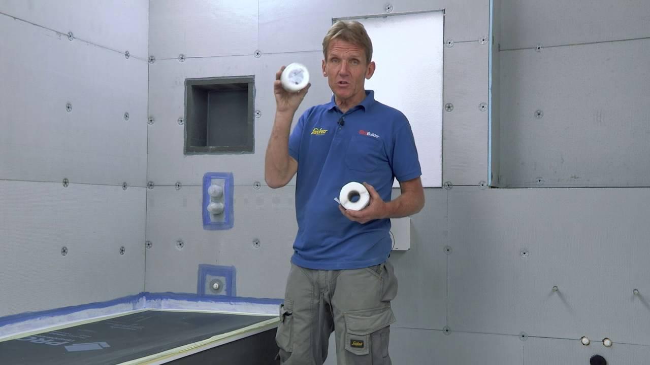 Waterproofing joints on Elements wall board - YouTube