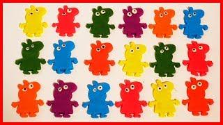 用黏土佩佩豬粉紅豬小妹玩具來學英語數字與顏色,兒童早教節目