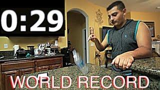 BEATING THE GUINNESS WORLD RECORD! WATER BOTTLE FLIP!