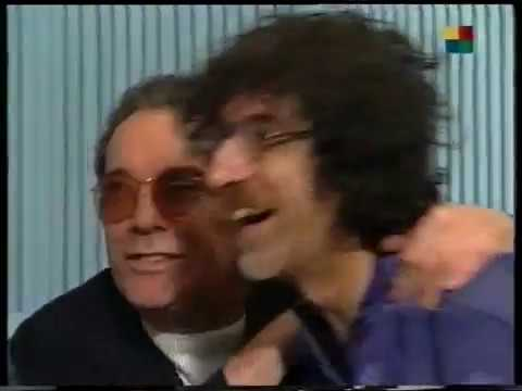 "Alfredo Alcón grabando para Charly García - Disco ""Alta Fidelidad"" 1997"