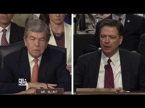 Sen. Blunt asks James Comey about taking phone calls from President Trump