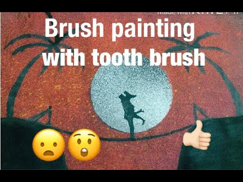 SIMPLE AND EASY TOOTH BRUSH SPRAY PAINTING / SMRITHILL ROOP'S CREATIONS / ROMANTIC PIC
