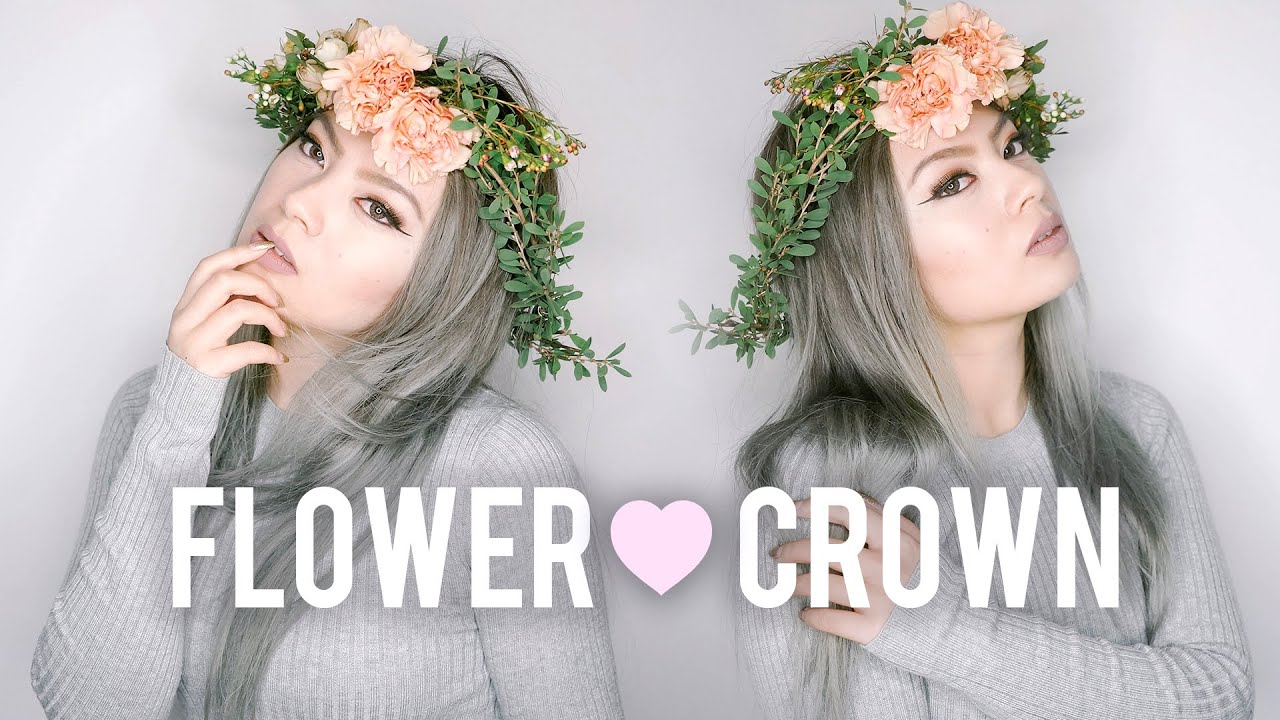 Diy fresh flower crown wedding prom youtube izmirmasajfo Gallery