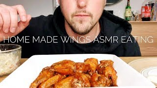 ASMR CHICKEN WINGS HOMEMADE EATING SOUNDS