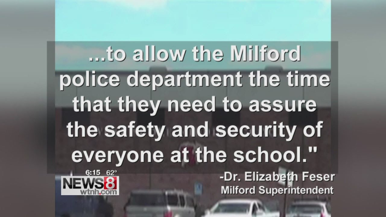 Milford middle school closed Wednesday due to threat
