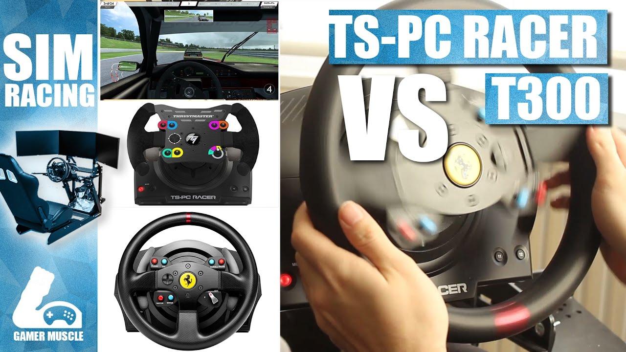 thustmaster t300 vs thrustmaster ts pc racer wheel comparison youtube. Black Bedroom Furniture Sets. Home Design Ideas