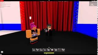 Roblox WWR Tristan (président de la WWR) Et Ig (champion féminin WWR) Backstage