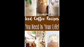 DIY:  3 Homemade Flavored Iced Coffee Recipes