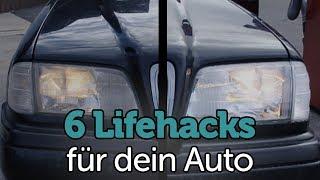 6 ultimative Lifehacks für dein Auto