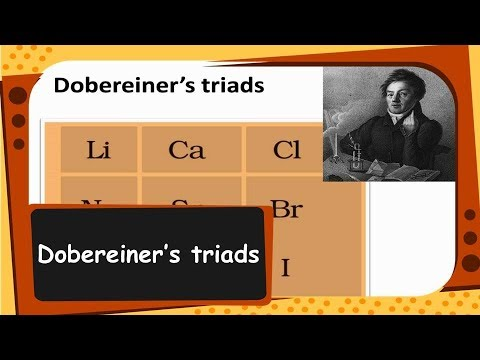Chemistry - Dobereiner's Triads - Periodic Classification of Elements   - Part 1 - English