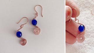 Simple diy earrings/wire wrapped earrings/handmade earrings/jewelry making