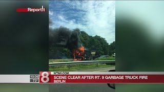 Route 9 in Berlin reopens after garbage truck fire