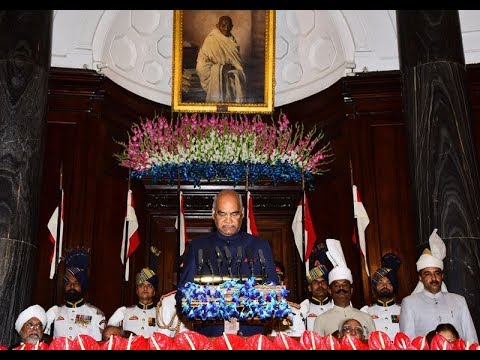 President  Kovind delivering his speech on assumption of office as the 14th President of India