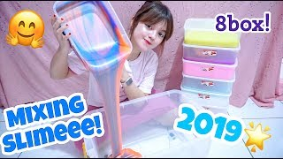 BAGUS BANGET ! MIXING SLIME COLLECTION IN THE BOX - SLIME COLLECTION UPDATE #7