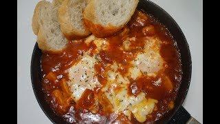 간단한 홈파티 요리, 토마토에 빠진 달걀! 에그인헬(샥…