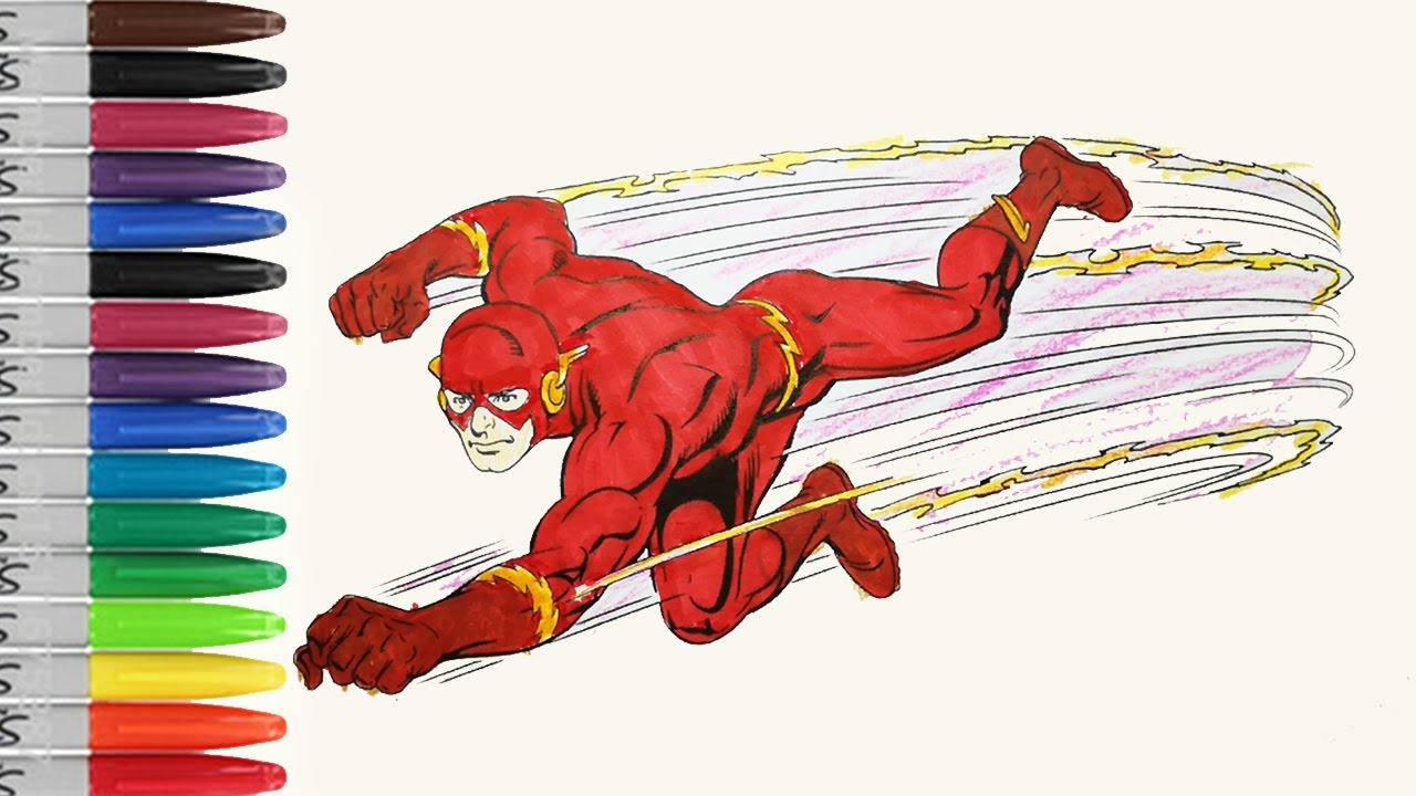 FLASH Running Till The Light Coloring Pages The FLASH SAILANY Coloring Kids