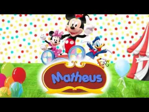 Convite Animado Circo Do Mickey Youtube