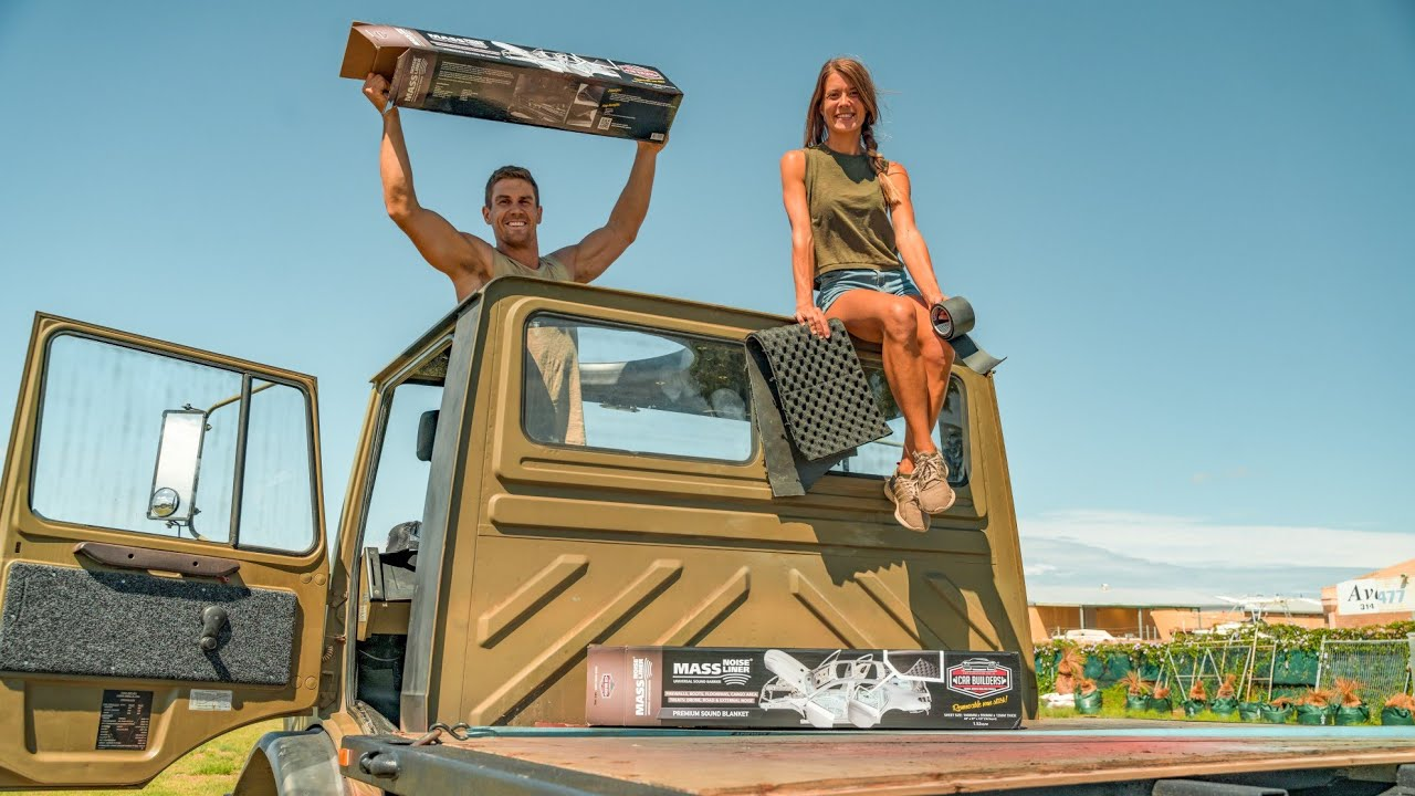 CAN WE SILENCE THE UNIMOG?! SOUND DEADENING OUR EX-ARMY TRUCK - DIY Expedition Vehicle Build #5