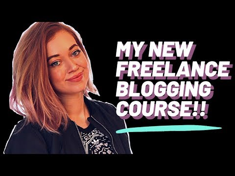 ANNOUNCING... MY NEW FREELANCE BLOGGING COURSE!! 🎉🎉