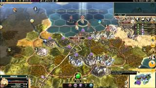 Civ V Brave New World Multiplayer Game 039 6 Player FFA: Spain (Gameplay/Commentary) Part 4/8