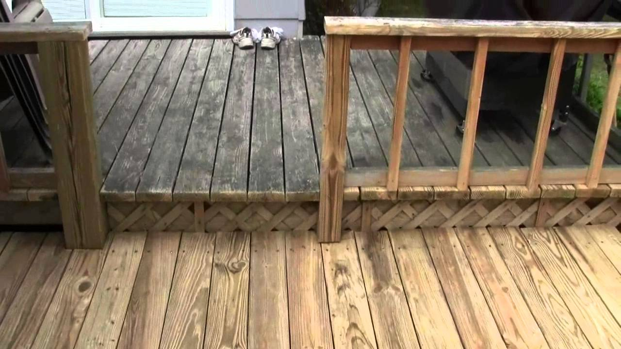Old Deck Power Wash Results Youtube