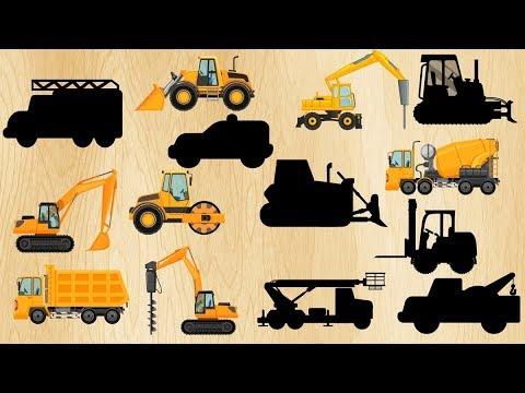 Construction for Kids, Truck Learning video Dump truck, Excavator, Crane, Bulldozer