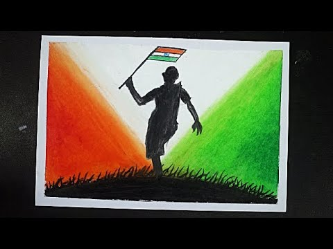 Oil Pastel Drawing For 15th August Drawing For Independence Day Easy Independence Day Drawing