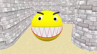 Pacman Crazy Battle Animation 3D