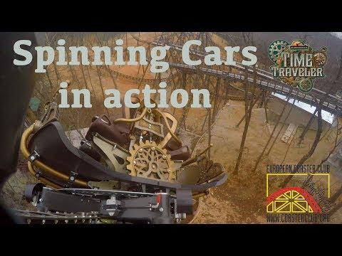 Time Traveler Spinning Cars On Ride POV Silver Dollar City 4K
