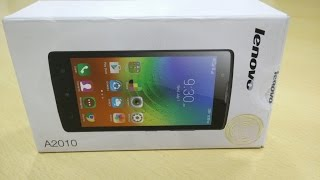 hindi Lenovo A2010 Unboxing and Quick Look Video
