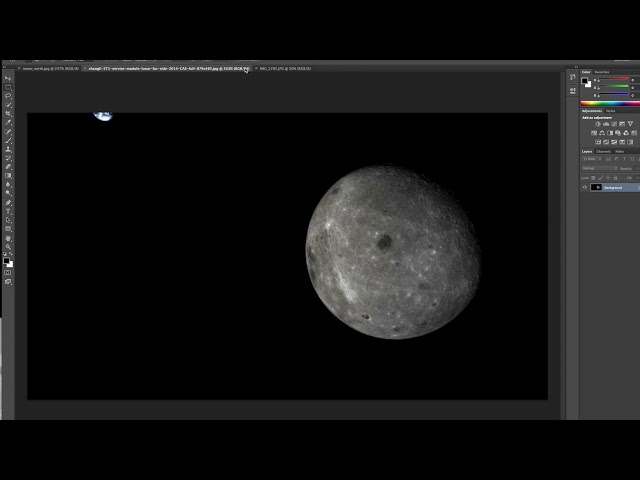 China Fake Amateur Satellite Earth/Moon Photos Oct 2018