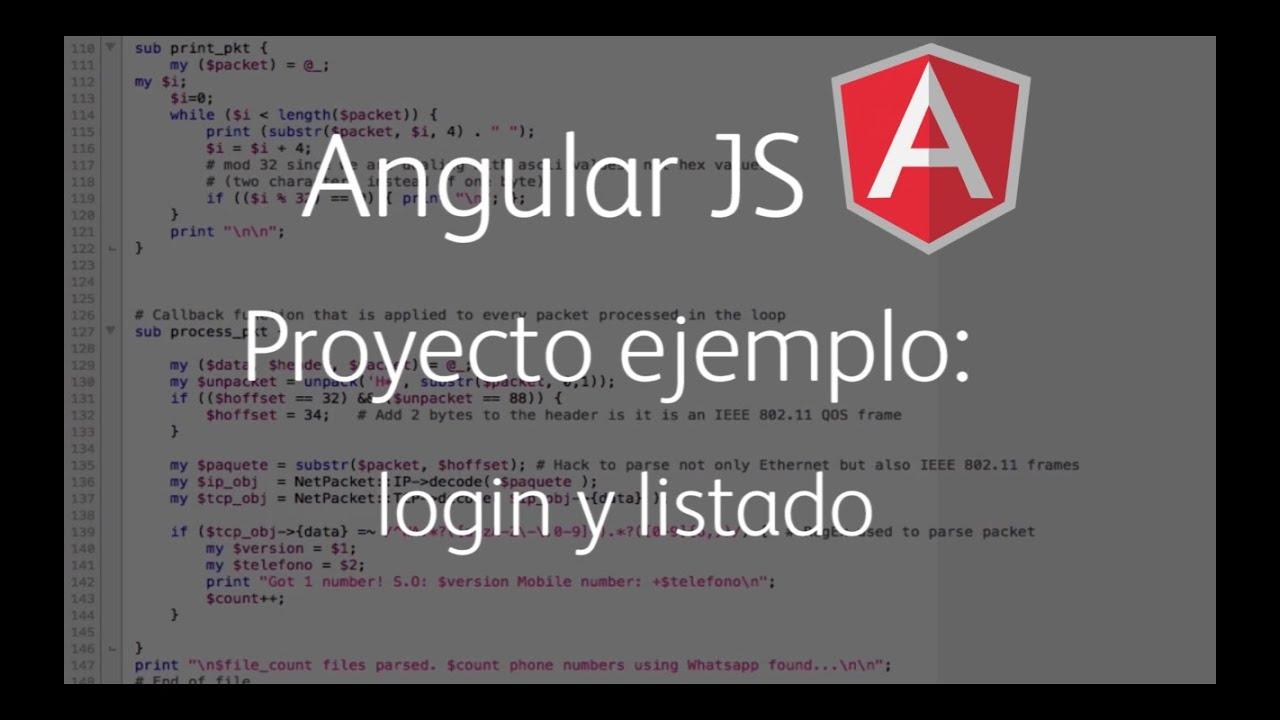 Angular JS - Proyecto ejemplo: login y listado - YouTube