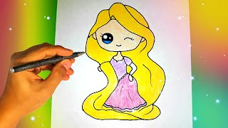 как нарисовать милую девочку принцессу? Лёгкие рисунки для детей