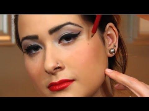 1950's Pin Up Makeup Tutorial - YouTube