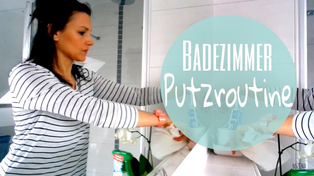 Badezimmer Putzroutine  My Bathroom Cleaning Routine