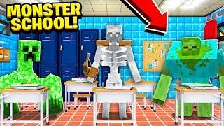 MINECRAFT MONSTER SCHOOL! MONSTERS TAKE OVER SCHOOL!