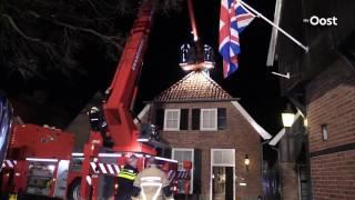 Brandweer rukt uit voor schoorsteenbrand in Ootmarsum