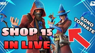 SHOP 15 JENNAIO IN LIVE - WE'ReNOT LO SHOP INSIEME - PROVINI ( FORTNITE )