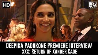 Deepika Padukone Premiere Interview - xXx: Return of Xander Cage