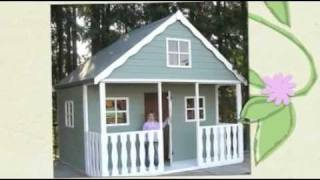 Wooden Play Houses  0800 652 9992  Wooden Play House Video
