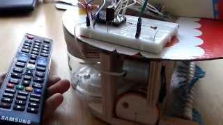 Робот-пылесос своими руками (первый тест)