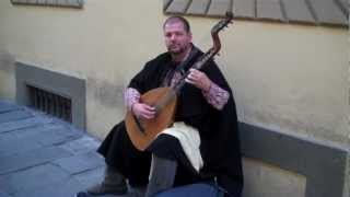 Plan Your Own Vacation To Travel Italy - Day 5 (06) Local Musician At Accademia
