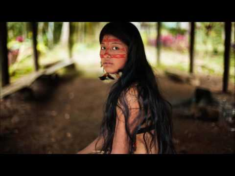 Native american flute in the jungle Rain Forest Shamanic Music