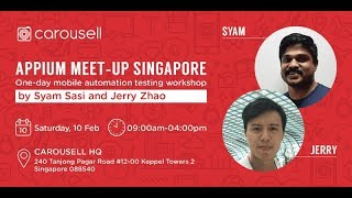 1 Day Workshop - Singapore Appium Meetup