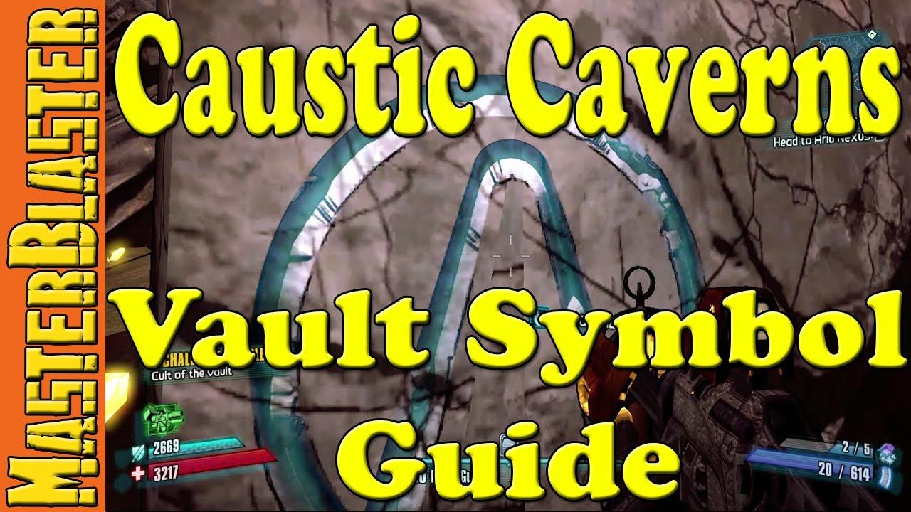 Borderlands 2 Caustic Caverns Cult Of The Vault Symbols Challenge