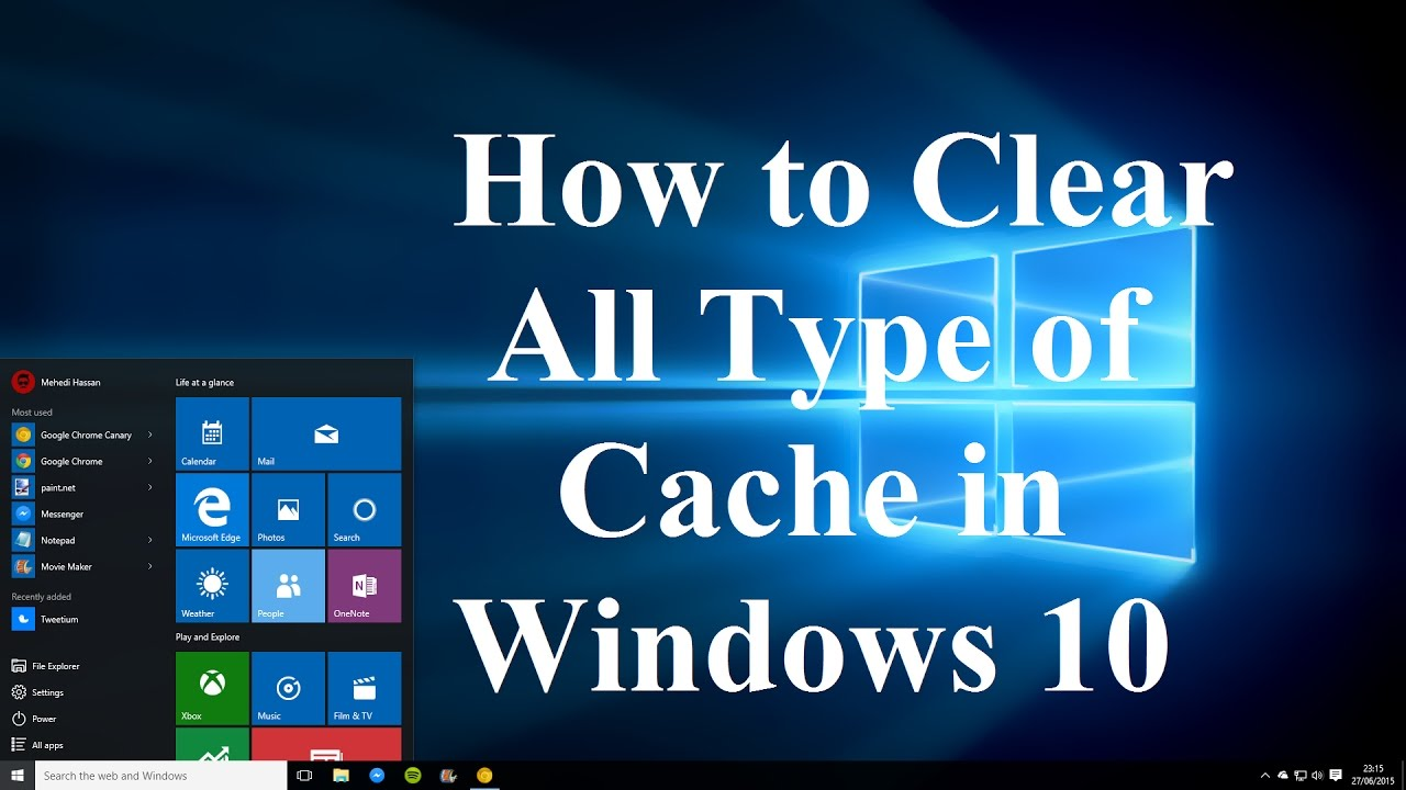 how to clear cache on windows 10