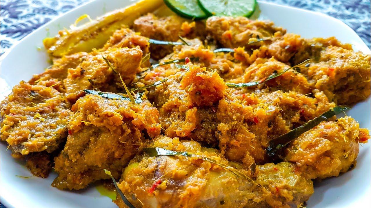 resepi ayam phat phet bahan bahan blend utk ayam  ekor  biji bawang merah kecil Resepi Ayam Masak Kunyit Berkuah Enak dan Mudah
