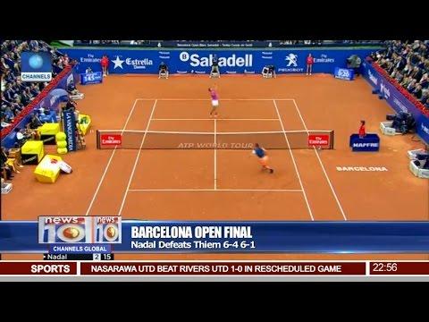 News@10: Nadal Defeats Thiem 6-4 6-1 In Barcelona Open Final 30/04/17 Pt 4