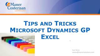 Tips and Tricks for Dynamics GP and Excel