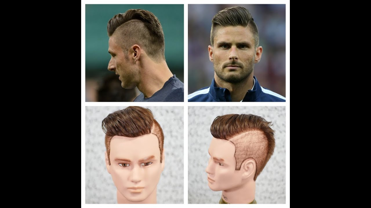 Olivier Giroud Haircut Hairstyle Tutorial 2014